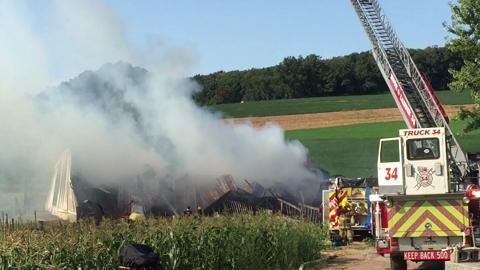 VIDEO: Dallastown Barn Fire