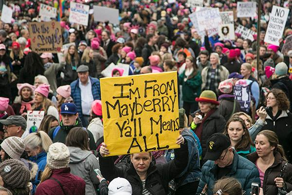 Women's March on Washington, D.C Saturday, Jan. 21, 2017.
