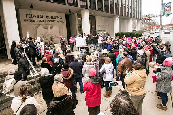 #TuesdaysWithToomey Jan. 31, 2017, outside of the Federal Building in Harrisburg.