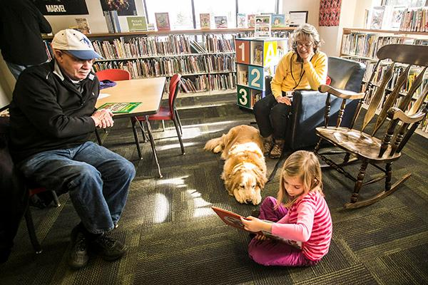 Tales for Tails, is a program developed for children to improve their reading skills by reading to a nonjudgmental environment.