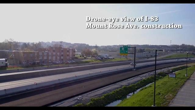VIDEO:  Drone-eye view of Mount Rose Ave. construction